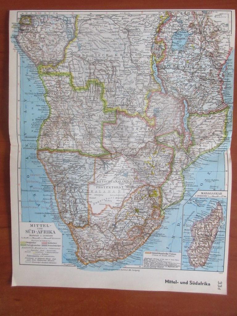 RPA ANGOLA MOZAMBIK MADAGASKAR   ROK 1936