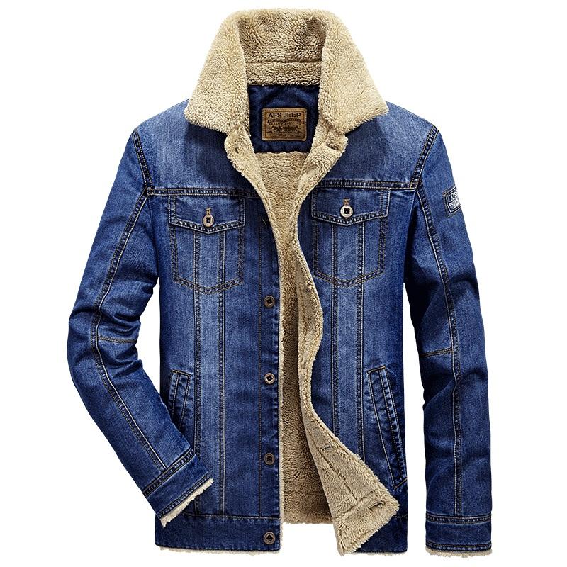 kurtka męska jeansowa ocieplana