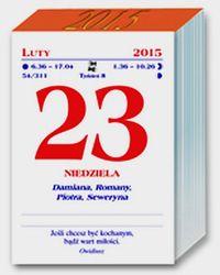 Kalendarz Domowy 2015 Zdzierak Duzy Unikat 7432454471 Oficjalne Archiwum Allegro