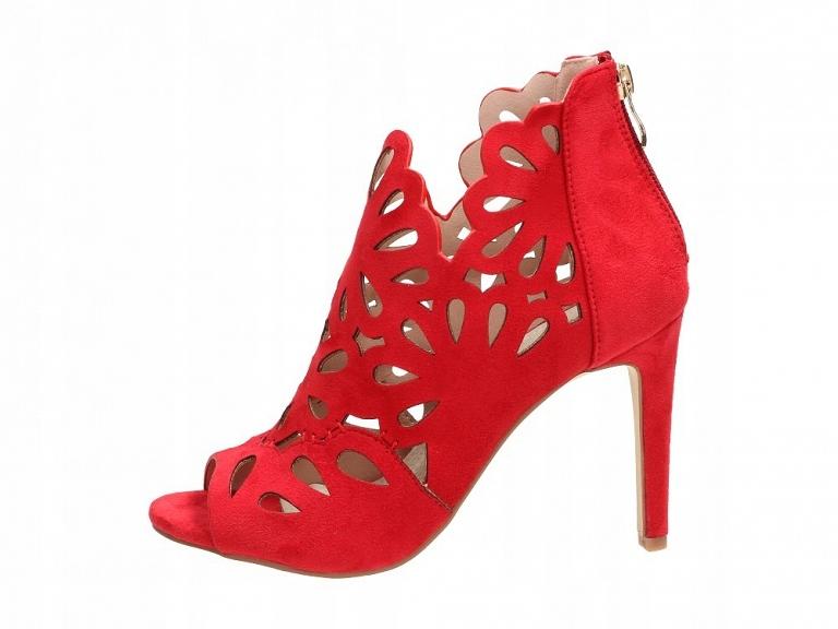 Sandały damskie, szpilki SABATINA 1447 S1 RD r38