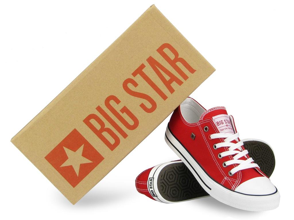 BIG STAR TRAMPKI męskie TENISÓWKI czerwone 45