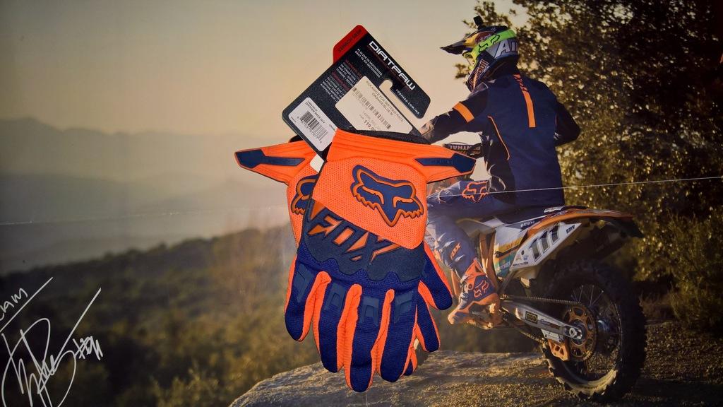 Rękawice Fox Dirtpaw Race Orange-Blue roz. M