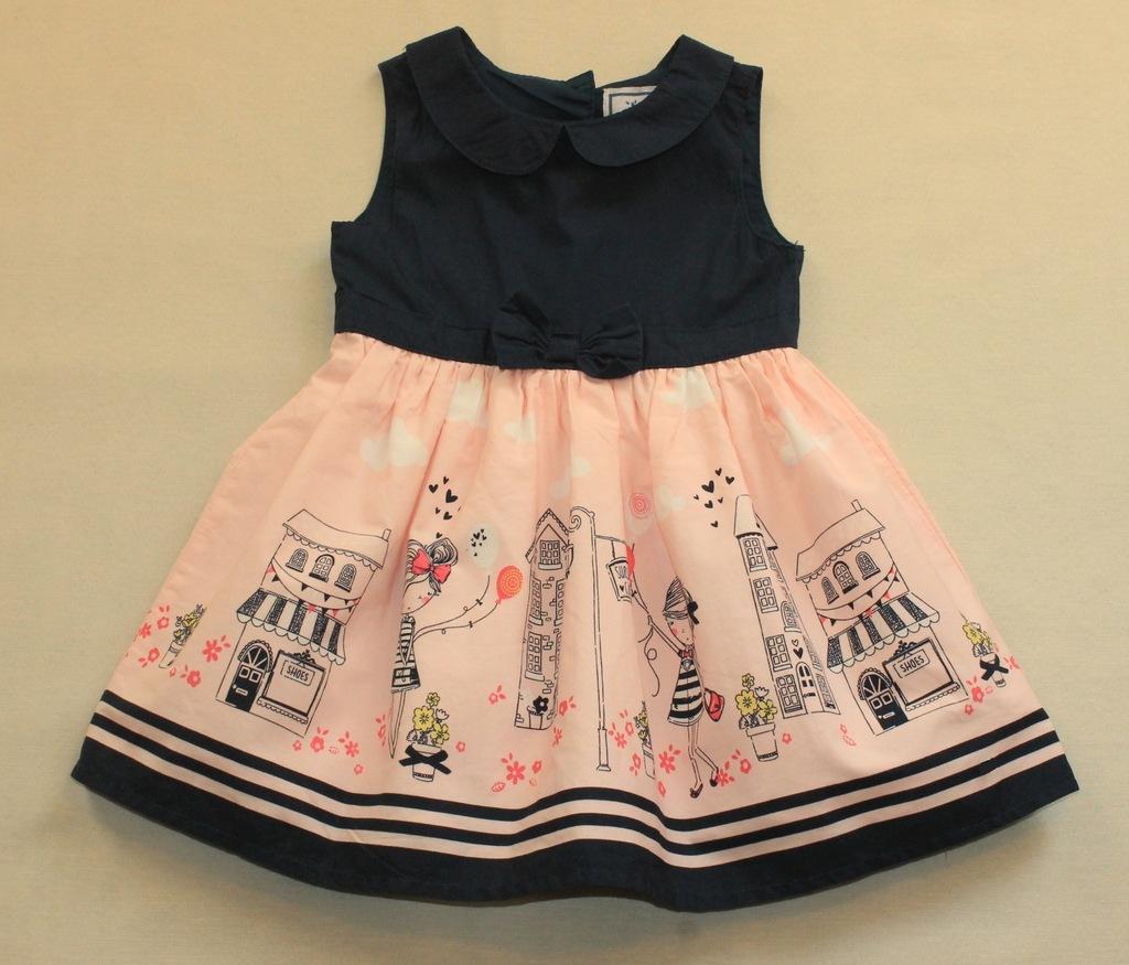 Sukienka EARLY DAYS dziewczynki domki kwiaty r 80