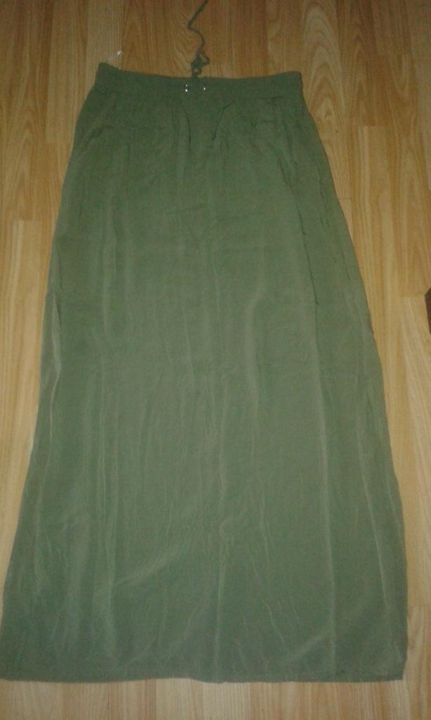 Długa spódnica khaki, new look