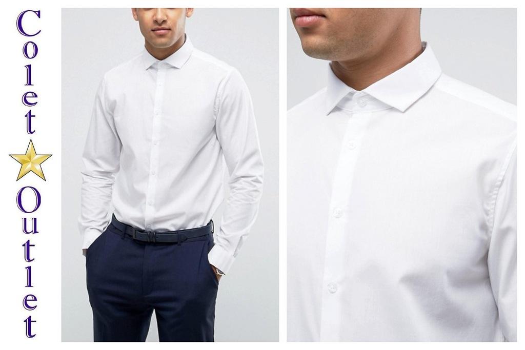 mt41 koszula biała regular fit elegancka S