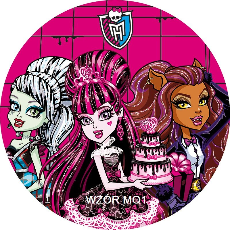 Bardzo Gruby Oplatek Na Tort Monster High 20 Cm 7052734461 Oficjalne Archiwum Allegro