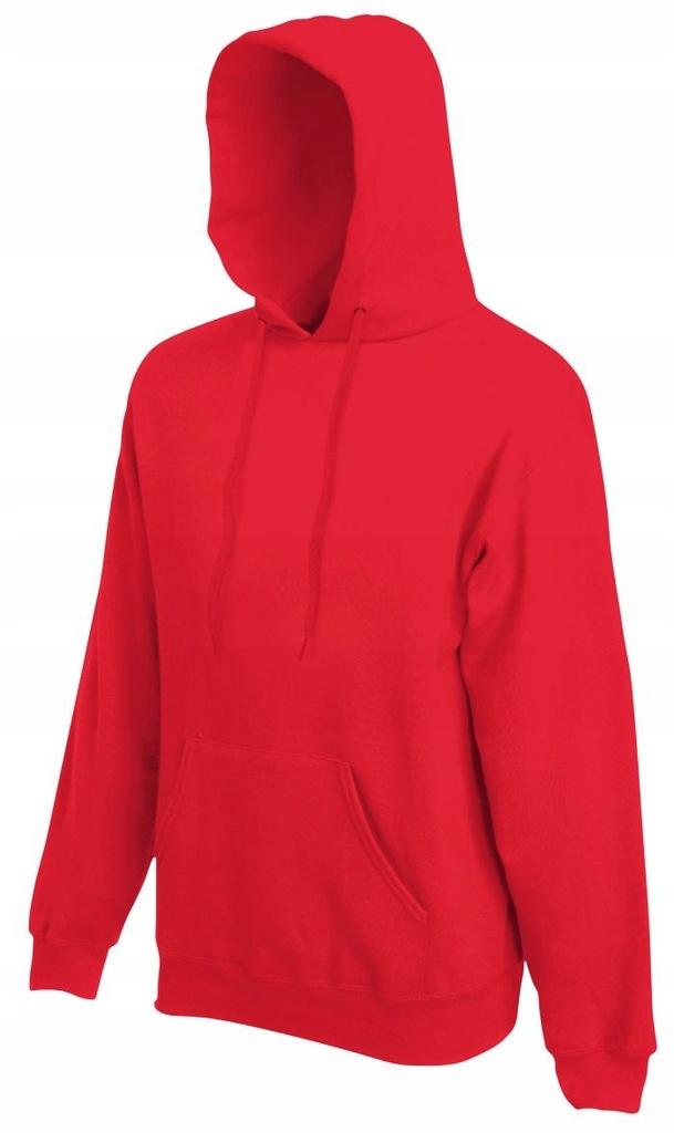 hooded bluza z kapturem czerwona