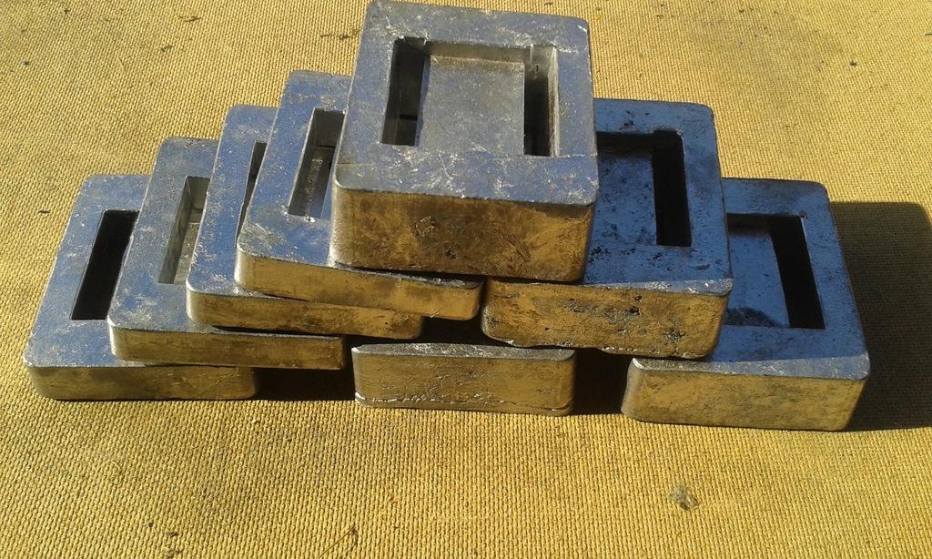 Balast nurkowy ołów kafel 1 kg - 20 zł