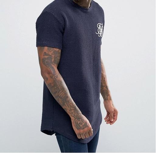 g48 T-shirt koszulka dzianina granatowa  męska M