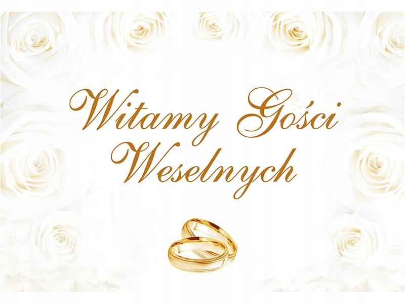 Plakat Witamy Gości Weselnych, 58 x 40cm