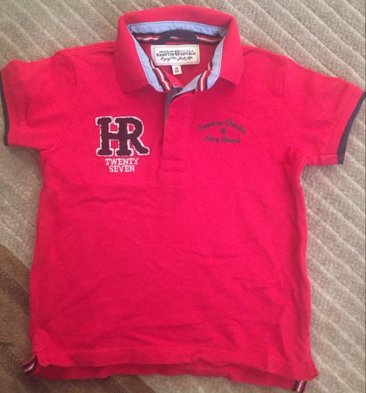 T-shirt polo rozm 98 104 BDB KappAhl czerwona HIT