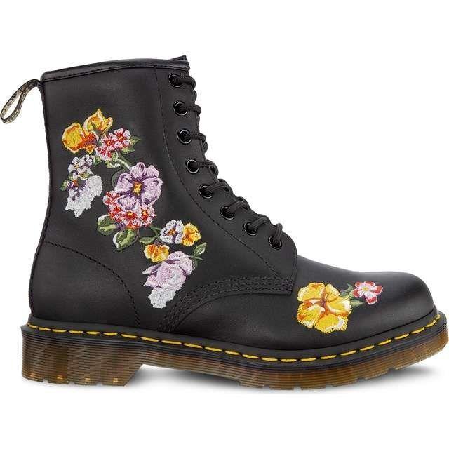 Glany Buty Damskie Dr Martens w kwiaty czarn 41