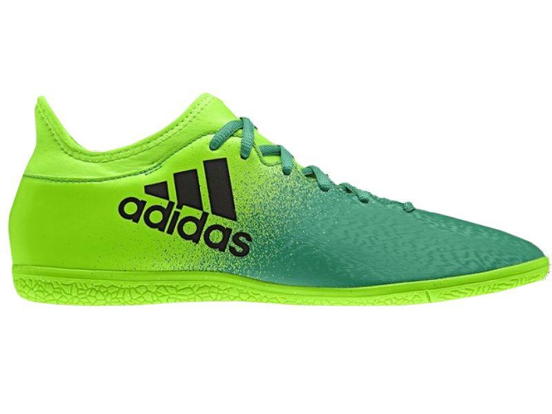 Buty piłkarskie halowe X 16.3 IN Adidas (zielone) Halówki