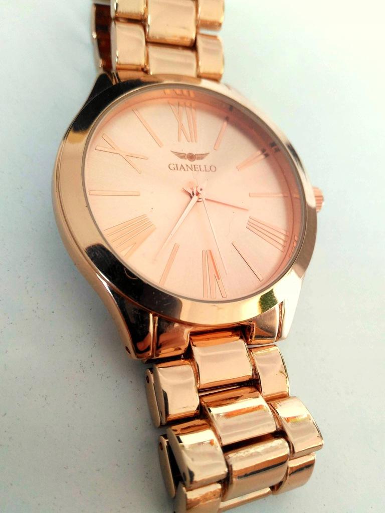 Zegarek Gianello złoty Rose Gold bransoleta pudełk