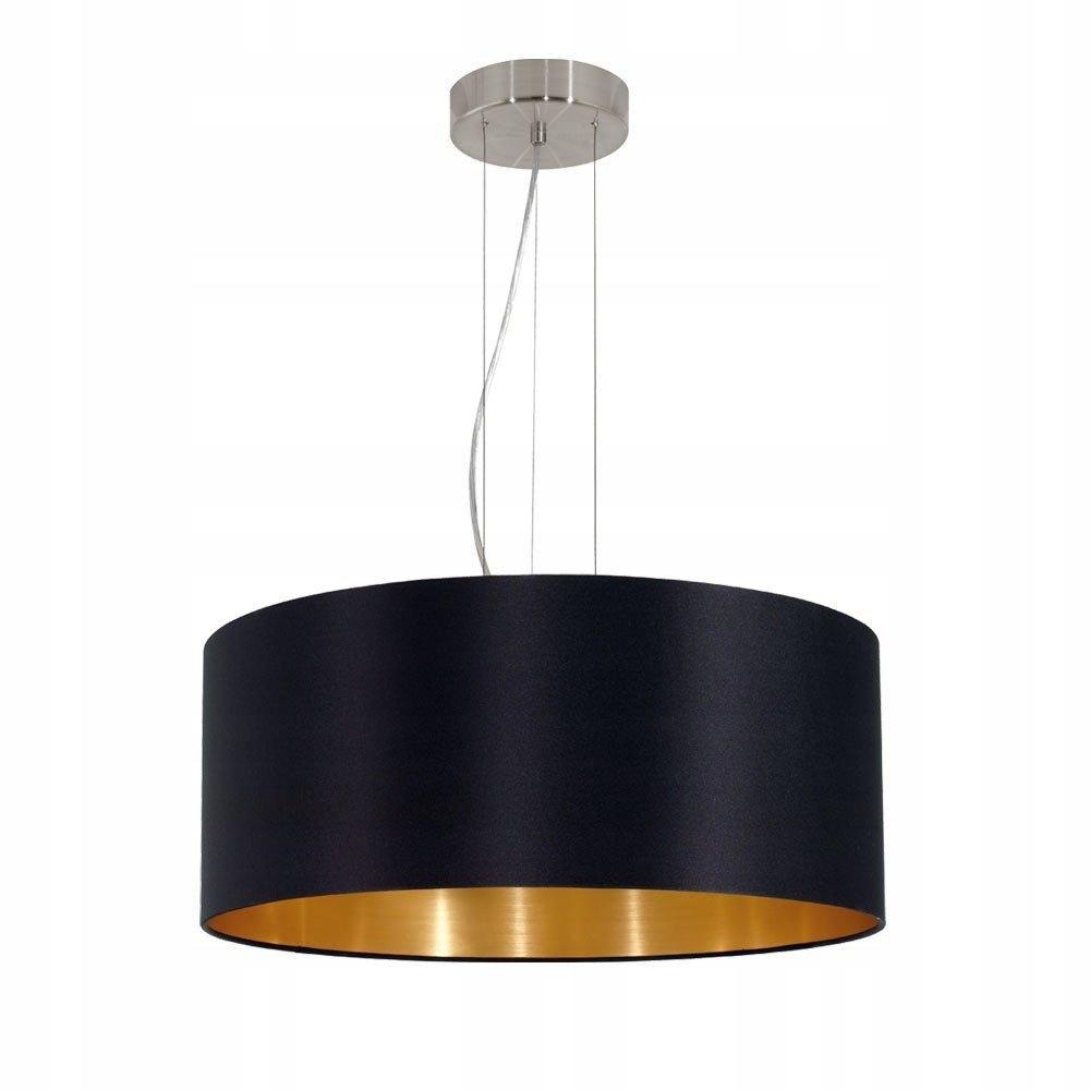 lampy sufitowe czarno złota