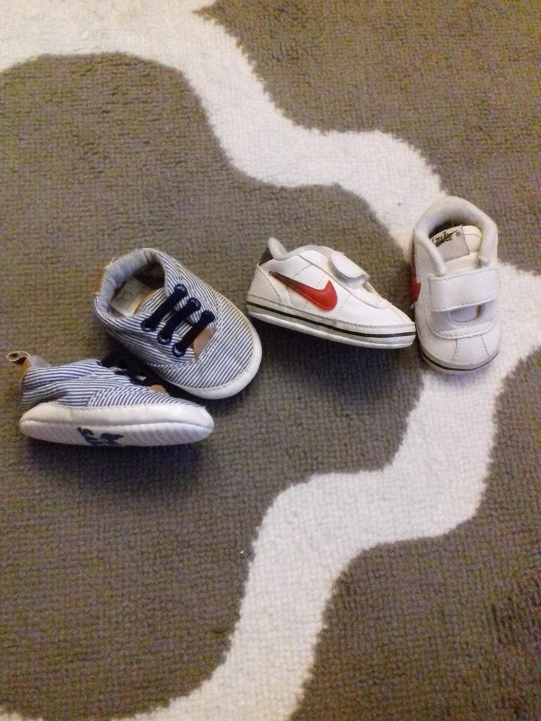 Buciki niemowlęce Nike + trampki