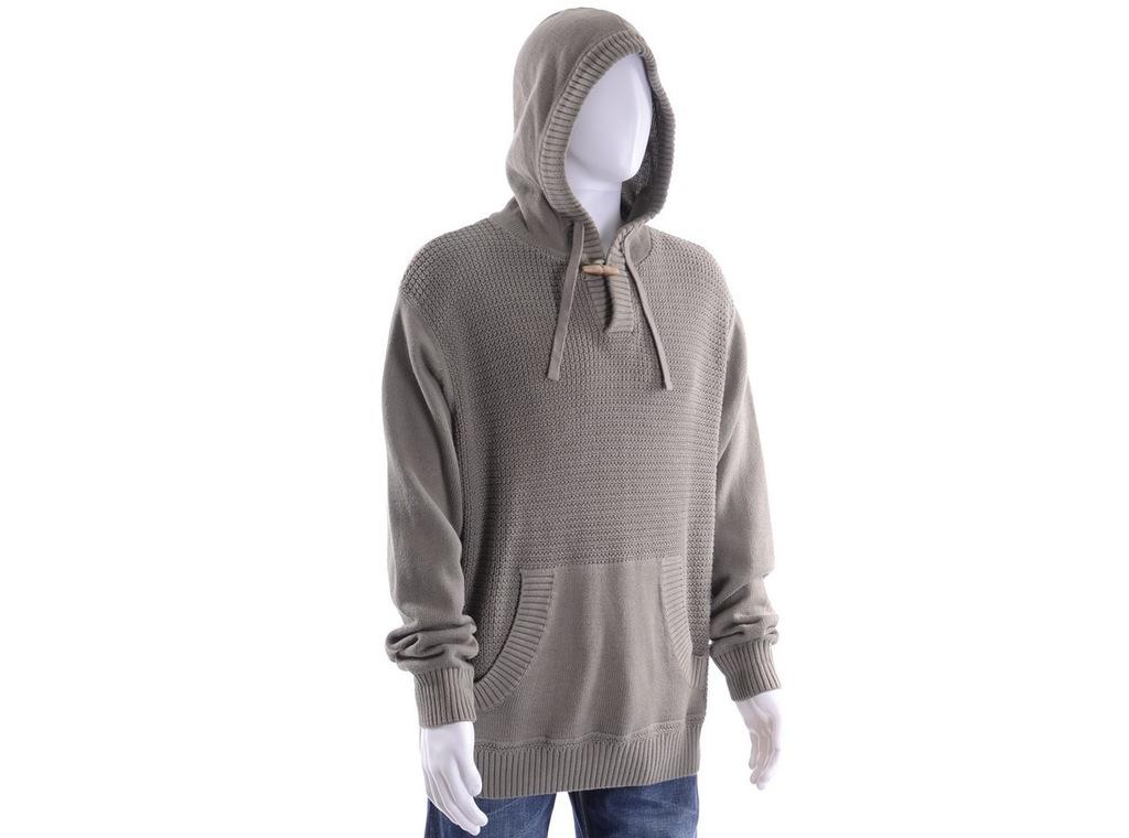 NEXT oliwkowy sweter męski z kapturem XL