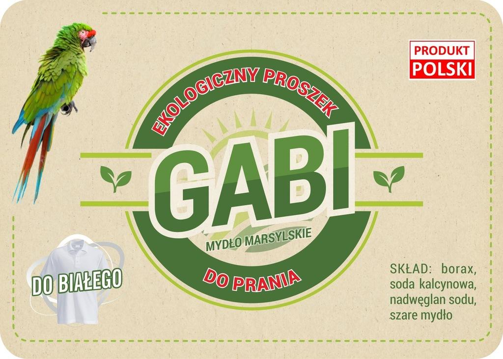 Eko proszek do prania 'GABI'do białego 5kg(wiadro)