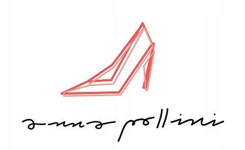 ANNA POLLINI _ c.DOUX skórzane botki na słoninie
