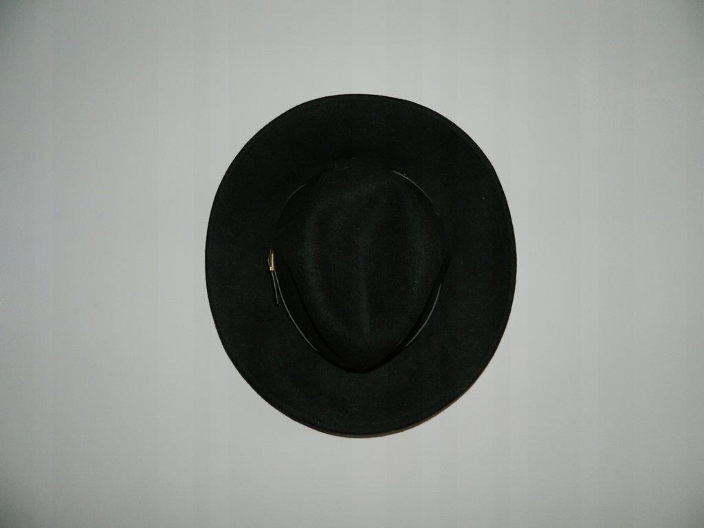 czarny kapelusz z dużym rondem ATMOSPHERE asos