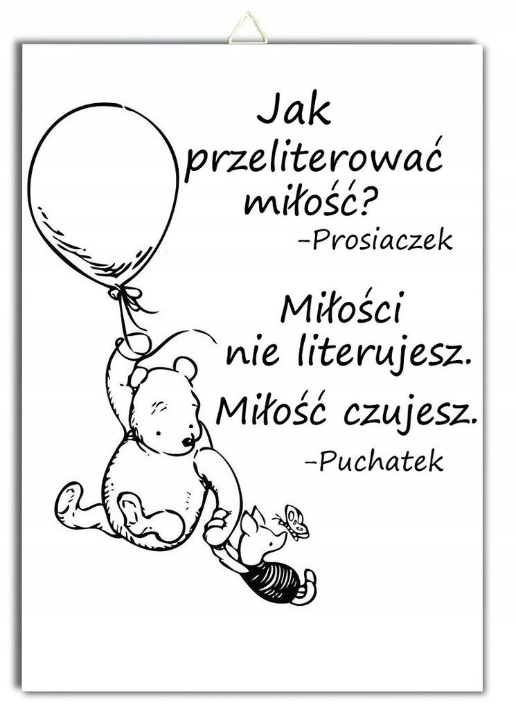 Plakat Puchatek Cytat Prosiaczek Miłość Czujesz 7752493558