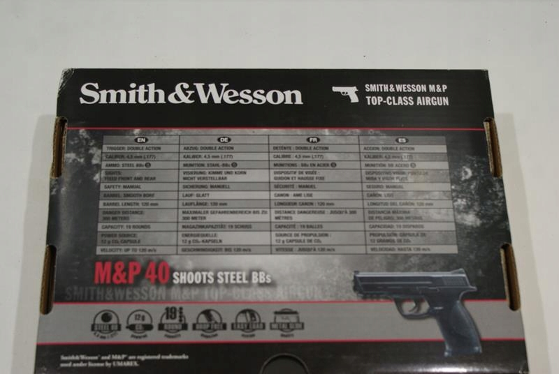 WIATRÓWKA SMITH&WESSON M&P 40 /komp+ KULKI
