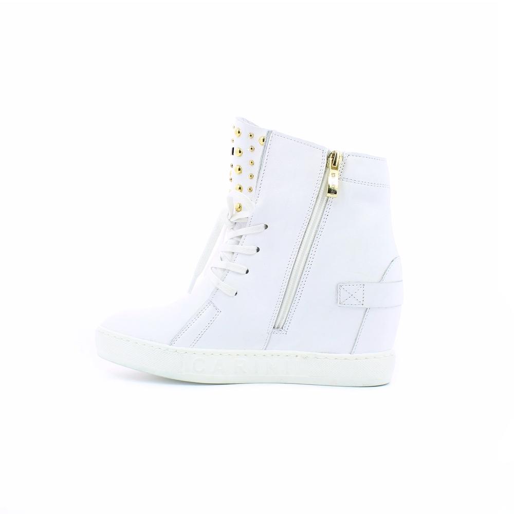 CARINII botki buty damskie na koturnie białe 37 7477281999