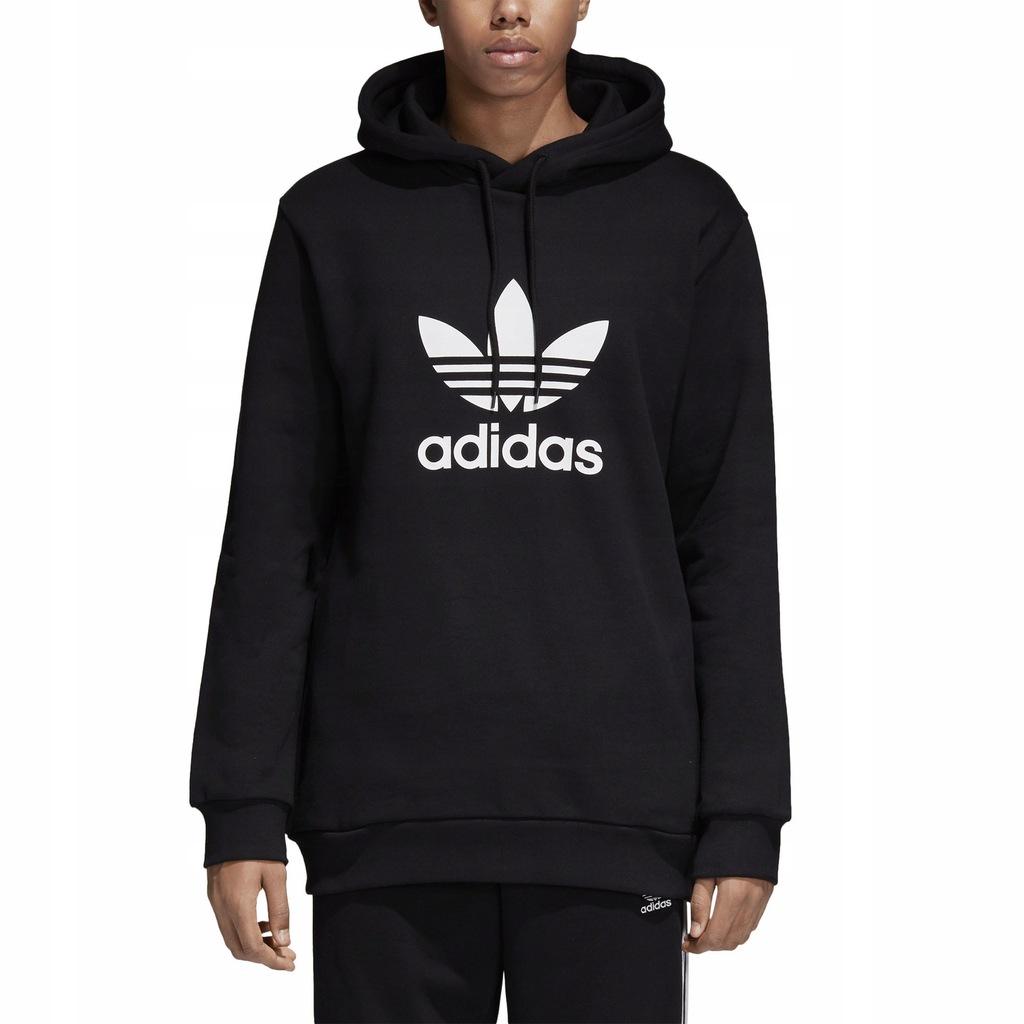 Bluza męska adidas Trefoil Hoodie czarna CW1240 XL