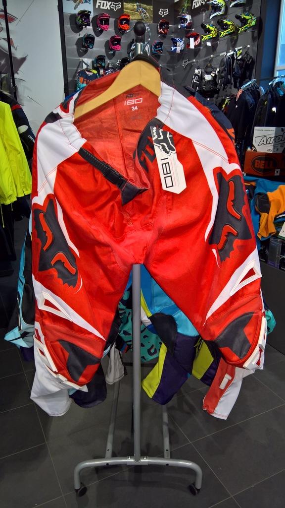 Spodnie Fox 180 Race Red roz. 34