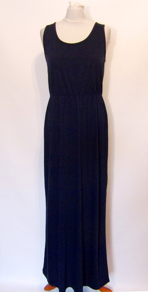 letnia granatowa sukienka maxi 4042