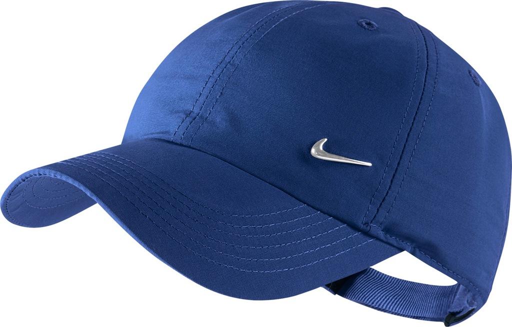 Czapka z daszkiem młodzieżowa Nike Heritage 86 niebieska bejsbolówka