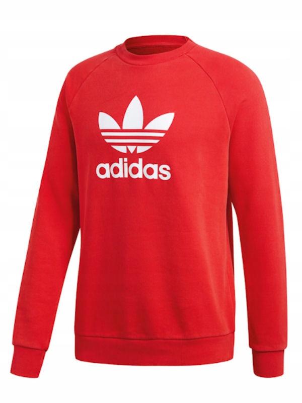 adidas bluza trefoil crew czerwona