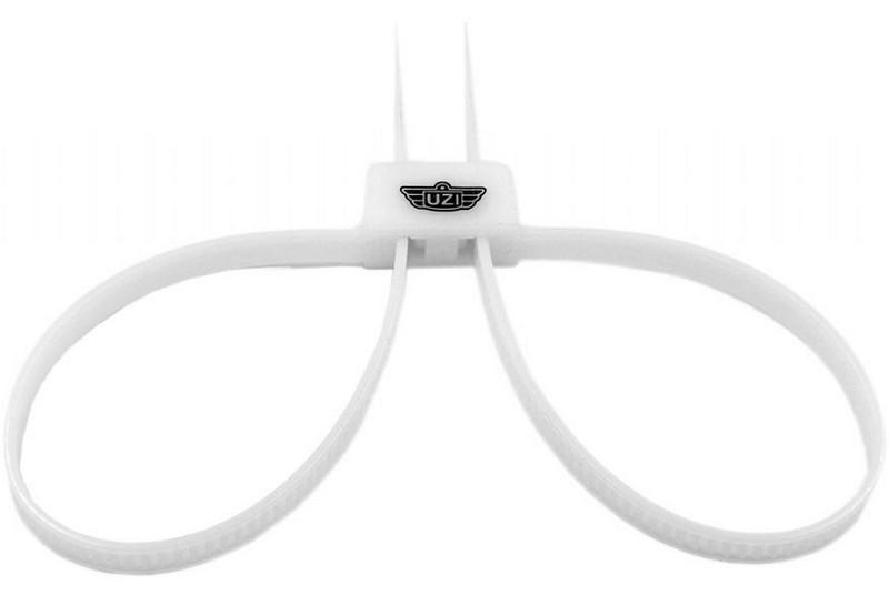 Kajdanki UZI Riot Cuff Restraints - białe