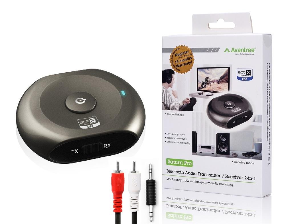Nadajnik Bluetooth 2w1 Avantree Saturn Pro aptX-L