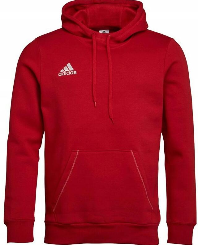 Bluza adidas CORE 18 HOODY czerwona CV3337 Męskie Bluzy