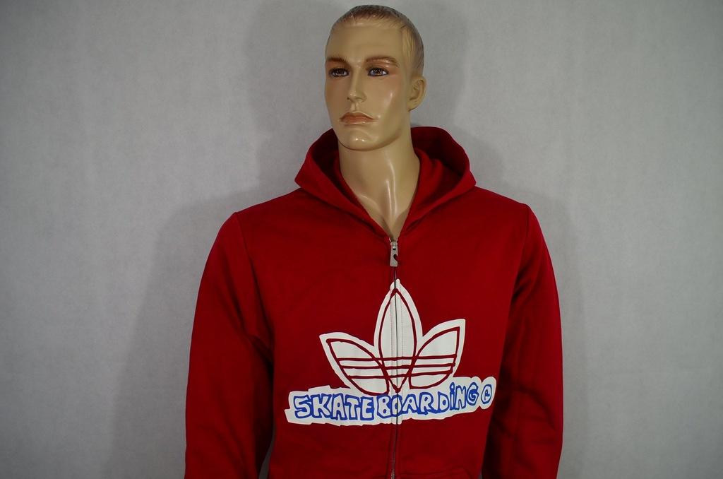 bluza adidas czerwona z sznurkami