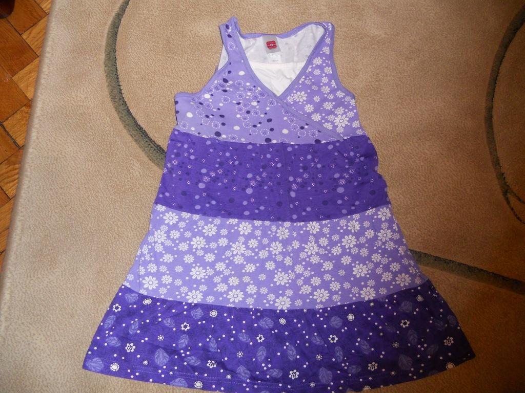 Sukienka dziewczęca na ramiączka C&A146 fiole