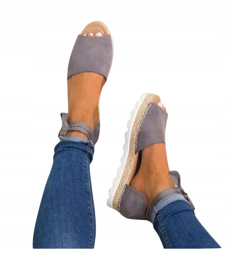 Espadryle sandały wiązane zamszowe kolory hit Galeria