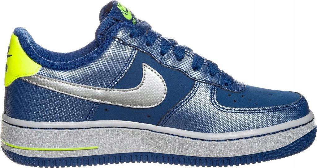 Nike Air Force 1 GS 596728 177 | Biały, Niebieski