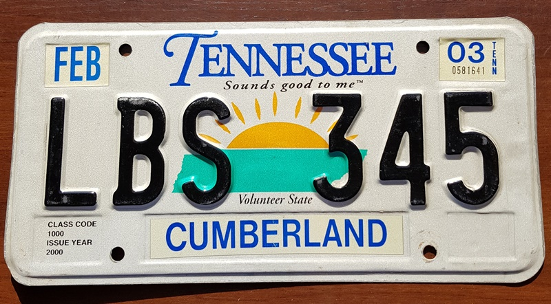 Tablica Rejestracyjna Usa Tennessee 2003 7365899335 Oficjalne Archiwum Allegro