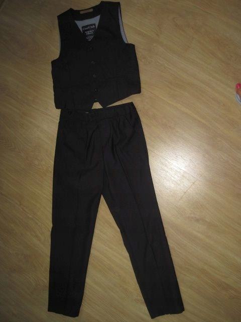 Cool Club elegancki komplet kamizelka spodnie