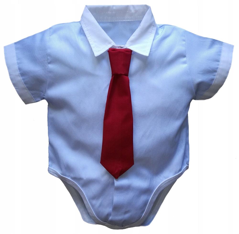 KOSZULOBODY 74 krótki rękaw KRAWAT koszula body 7358400063