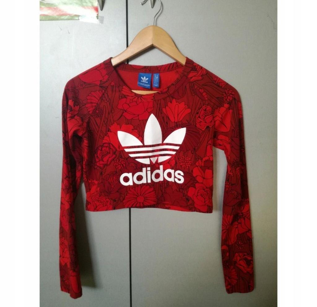 Adidas krótka koszulka crop top S