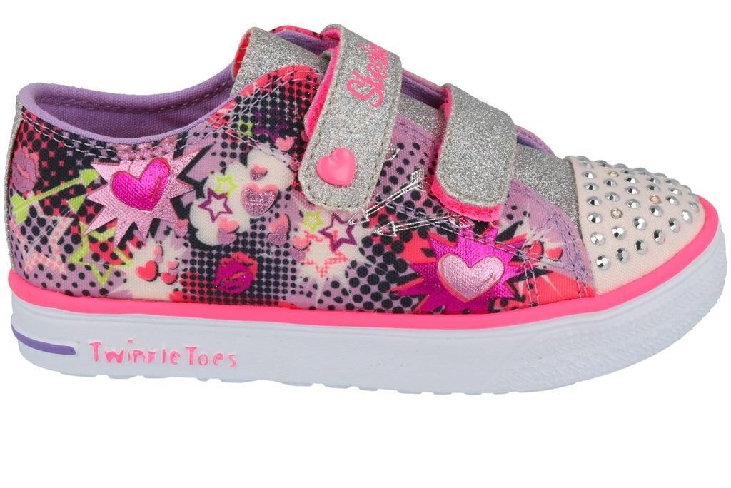 buty dziecięce Skechers trampki Świecące diody 23