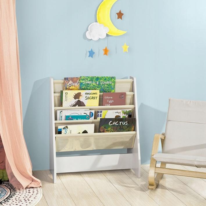 SoBuy FRG225-W Regał na książki dla dzieci, stojak