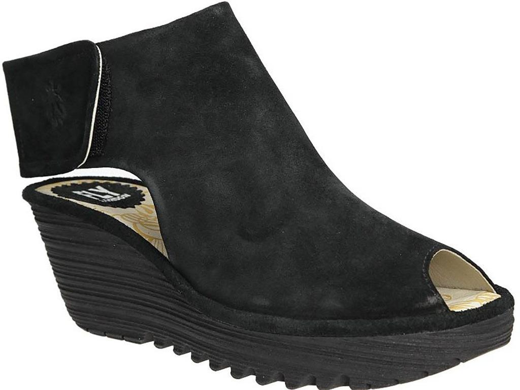 Sandały zamszowe na koturnie Fly London P500642007 Ceny i