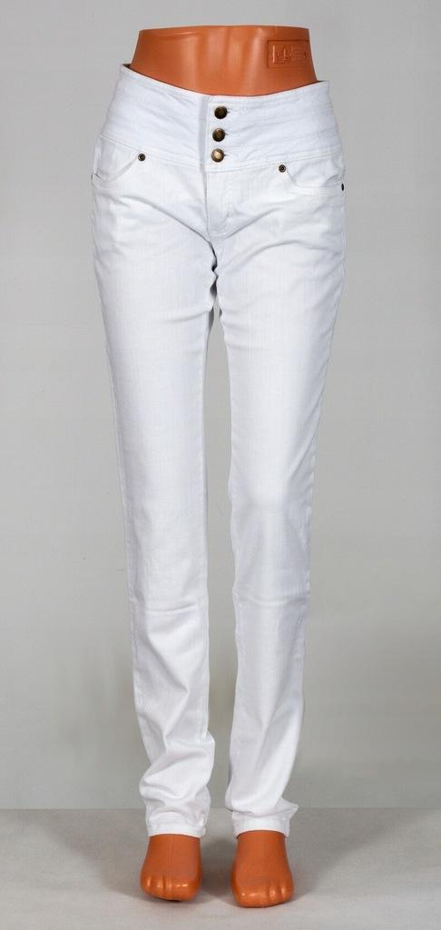 QS331 Białe spodnie jeansy JOHN BANER 4648 NOWE!