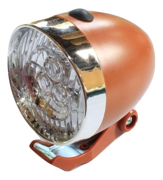 Lampka Rowerowa Retro Na Baterie 3 Led Brązowa 7001878924 Oficjalne Archiwum Allegro