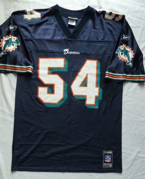 Koszulka Miami Dolphins Reebok Zach Thomas 54 M