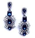 BLUE royal kolczyki SWAROVSKI kryształ długie STYL